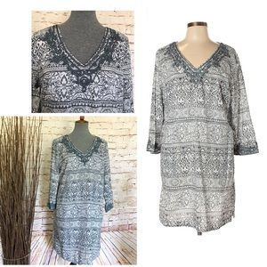 Lands' End Casual Dress Paisley Print Dress